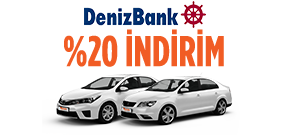 DenizBank Afili Müşterilerine Özel Fiyatlar! Araç Kiralama Kampanyası