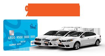 Paraf Kredi Kartı Müşterilerine %20 İndirim Araç Kiralama Kampanyası