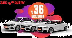 36% Discount for Red by Dufry members Araç Kiralama Kampanyası