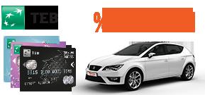 TEB Bireysel Müşterilerine Özel %18 İndirim! Araç Kiralama Kampanyası