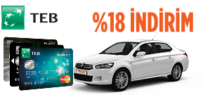 TEB Kurumsal Müşterilerine Özel %18 İndirim! Araç Kiralama Kampanyası