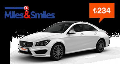 thy miles&smiles mercedes cla 180 araç kiralama kampanyası