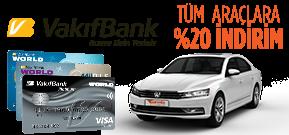 VakıfBank Platinum veya VakıfBank MilPlus Sahiplerine Özel Fiyatlar! Araç Kiralama Kampanyası