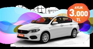 Fiat Egea Süper Fiyata!  Aylık Kiralamalarda KDV Dahil 3.000 TL
