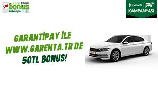 GarantiPay ile 50 TL bonus!
