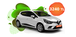Renault Clio dizel, manuel veya benzeri aylık sadece 3.240 TL
